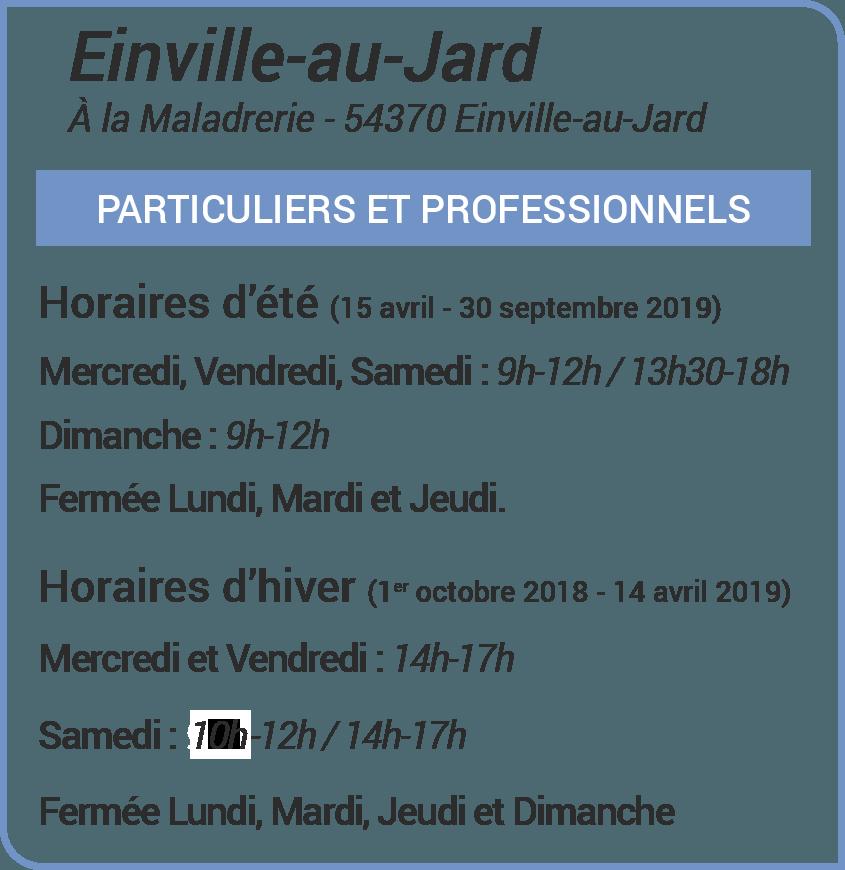 Horaires de la déchetteries d'Einville-au-Jard