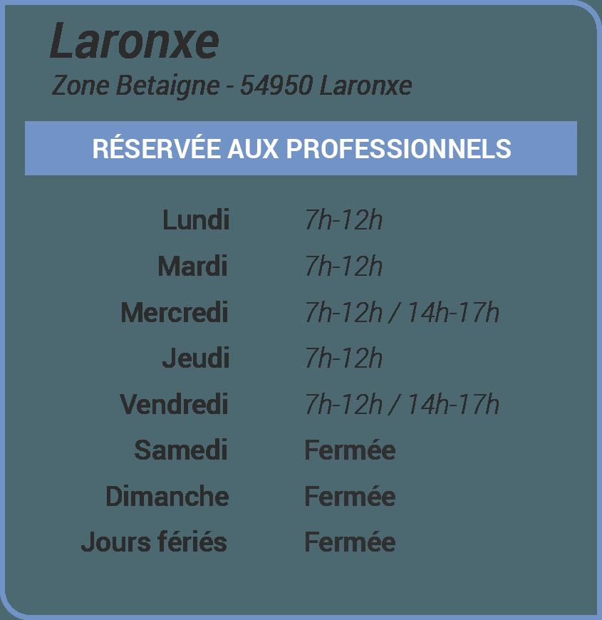 Horaires de la déchetterie de Laronxe, réservée aux professionnels