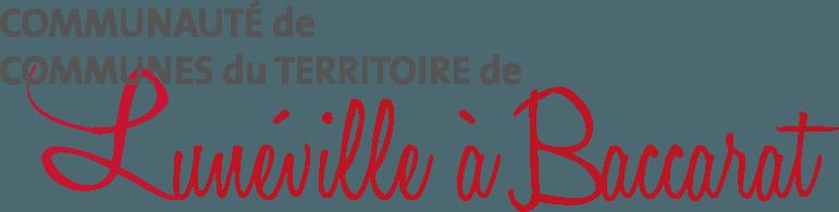 logo de la communauté de communes de lunéville à baccarat