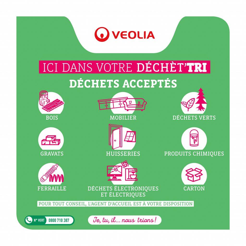 listes des déchets acceptés en déchetterie