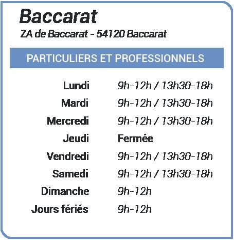 Déchetterie de Baccarat